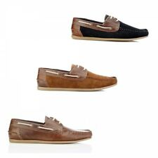 Red Tape STRATTON Mens Leather/Suede Slip On Lace Classic Summer Boat Shoes