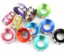 10Pcs Jewelry Making Crystal  a big hole spacer beads 11x4mm