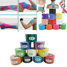 5m x 5cm Kinesiology Sports  Tape Muscles Care Elastic Physio 1 Roll Therapeutic