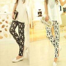 Fashion Elasticity Skull Print Thin Tight Women Leggings Pencil Pants