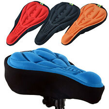 Cycling Seat Silicone Cushion Soft Bicycle Gel Pad Bike Saddle Cover Black Mount