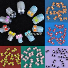 New 20pcs Acrylic Cute Bowknot Bow Tie Glitter Gel UV 3D Nail Art DIY UTAR