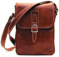 Floto Imports Luggage Poste Field Shoulder Man Bag, Italian Calfskin Leather