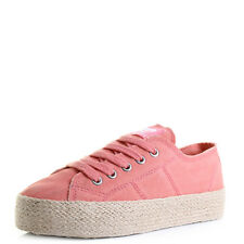 Womens Rocket Dog Madox Denim Peach Platform Espadrille Shoes UK Size