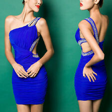 New Sexy Womens Backless Mini Cocktail Prom Party Ball Evening Dress Three Color