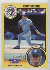1991 Starting Lineup Cards #17 Kelly Gruber Toronto Blue Jays Chicago Cubs Card
