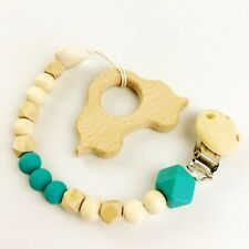 Car Silicone Pacifier Clip Soother Toy Teether Leash Organic Baby Shower Gift