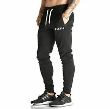 Black Gym Casual Pants Jogging Running Trousers Tracksuit Long Sports Sweatpants