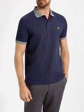 Lyle And Scott Mens Contrast Rib Polo SP600V-Navy