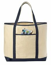 Big Canvas Reusable Grocery Shopping Bag Boat Tote Totes Bag 4 COLOR 22""