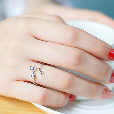 Sweet Animal Cat Open Finger Ring Jewelry Charm Women Party Prom Gift Refined