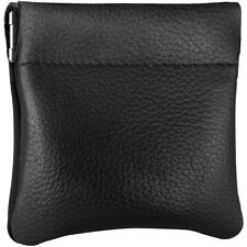 New Mens or Womens Leather Squeeze Coin Pouch / Purse / Change Holder USA Made