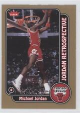 2008-09 Fleer Retrospective Glossy #MJ-10 Michael Jordan Chicago Bulls Card