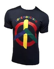 T SHIRT LOVE MOSCHINO PEACE NAVY BLUE