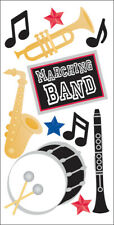 SandyLion Essentials Dimensional Stickers-Marching Band