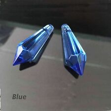 Mixed Optional Faceted Hot Teardrop Point Bead 38mm 5Pcs Glass Pendant Crystal