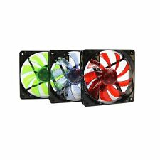 120mm DC 12v LED PC Computer Case Fan 4Pin 3Pin Connector For Radiator Cooling
