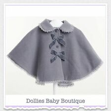 Baby/Infant Girls Spanish Romany Lace Trim Lined Cape Age 12m, 18m, 2yrs, BNWT