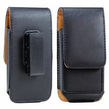 For iPhone 6S 6 PU Leather ID Credit Card Swivel Belt Clip Holster Case Pouch