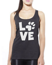 Love Paw Print - Cat Dog Pet Lover Womens Vest Tank Top