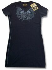 Harley Davidson Trunk LTD Bat Wings Girls Juniors Black Tunic Dress Top New NWT