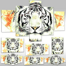 New Canvas picture Wall Tattoo Art Print Animals Fantsy Wild cat white Tiger