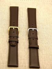 New Gucci 20MM Brown Genuine Leather Watch Band Generic Clasp -  (20.102GC)
