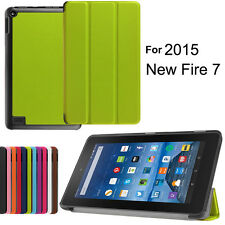 "New Magnetic Leather Folio Stand Shell Case Cover for Amazon Kindle Fire 7"" 2015"
