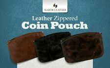 Zippered Coin Pouch For Men/Woman made with Genuine Leather, Coin Purse Holder