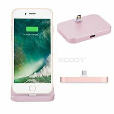 For Apple IPhone 7 6 5 SE Desktop Sync Charger Dock Station Cradle Audio Output