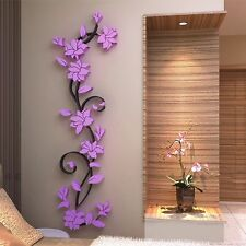 3D Flower Home&Room Decor Removable DIY Wall Sticker Roon Acrylic Decal Mural
