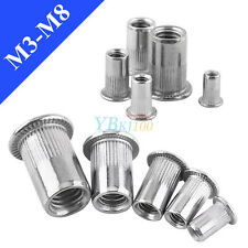 20pcs M3 M4 M5 M6 M8 Metric Flat Head Blind Rivets Nuts Threaded Nutsert Rivnuts