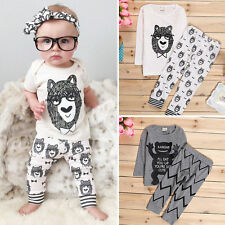 Cute Newborn Infant Baby Boy Outfits Short Sleeve T-shirt+Pants Clothes Sets