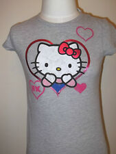 New HELLO KITTY Girl's Kid's T-SHIRT TEE S-XL GREY Heart Love Old Navy Valentine