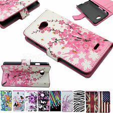 PU Leather Flip Wallet Card Cover Case Stand For LG Optimus Mobile Cell Phones