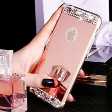 Bling Crystal Diamond Mirror Soft TPU Back Cover Case For Apple iPhone Models R