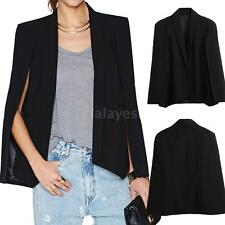 Women's Slim Lapel Cape Casual Business Blazer Suit Jacket Coat Outwear L0G6