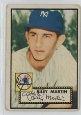 1952 Topps #175 Billy Martin New York Yankees RC Rookie Baseball Card