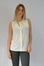 NEW EX NEXT Ivory Sleeveless Silky Blouse in Sizes 6-22