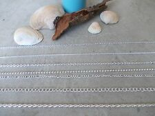 SILVER COLOURED METAL JEWELLERY CHAIN,ALL STYLES, NECKLACE BRACELET CRAFT MAKING