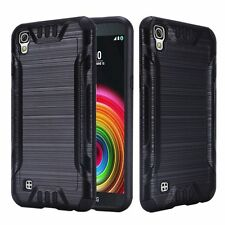 For LG X Power Case, Armor Hybrid Cover [Stylus+Screen Protector+Car Charger]