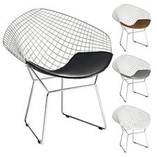Diamond Shaped Chair Mid Century Modern Lounge Accent Chair Wire Mesh Chair