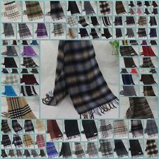 New Winter Women's Man's Check Vintage Long Cashmere Wool Soft Warm Shawl Scarf