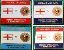 England v Norway Friendly International 3 September 2014 Pin Badge