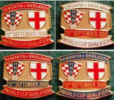 Croatia v England 2010 World Cup Qualifier 10 September 2008 Zagreb Pin Badge