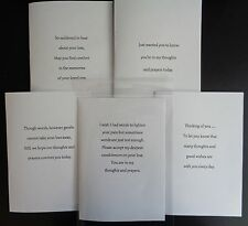 PK OF 10 SYMPATHY,THINKING OF YOU CARD INSERTS, A5,A6,6X6,5X5,7X5,PRE CUT 100GSM