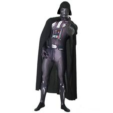 New M-XL Darth Vader Morphsuit Costume Star Wars Cosplay Zapper Light Sabre