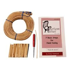 Complete Chair Caning Kit, Any Size, w/ Binder, 12 Pegs, Awl, Color Instructions
