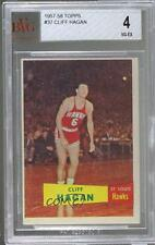 1957-58 Topps #37 Cliff Hagan BVG 4 St. Louis Hawks RC Rookie Basketball Card