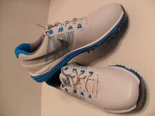 New Womens Nike Lunar Control Golf Shoes Spikes Cleats White Aqua Blue704676-100